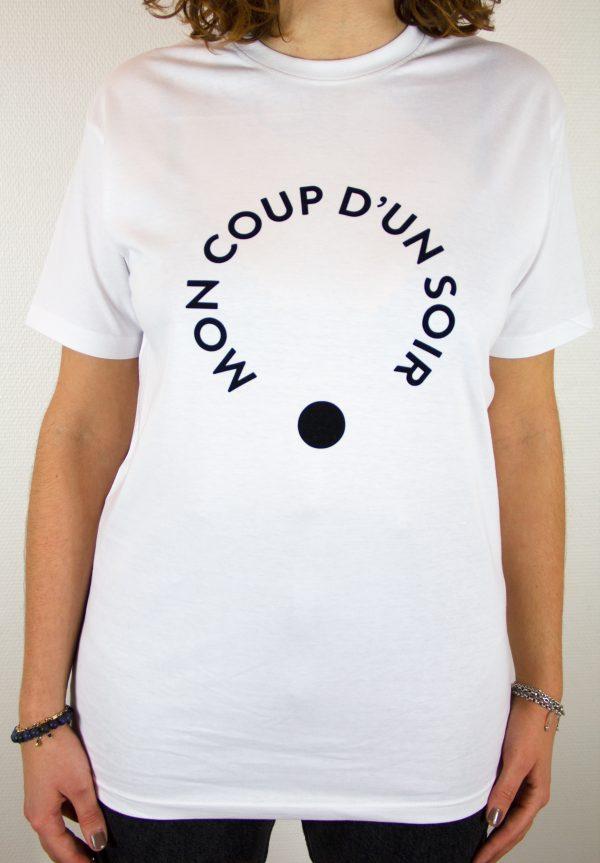 Les Intimes: T-shirt blanc vue face par Mon Coup D'un Soir