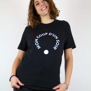 T-shirt noir femme flocage blanc par Mon Coup D'un Soir