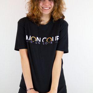 T-shirt noir et blanc dorée